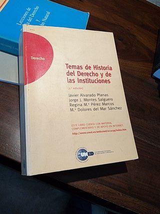 TEMAS DE HISTORIA DEL DERECHO Y DE LAS INSTITUCION