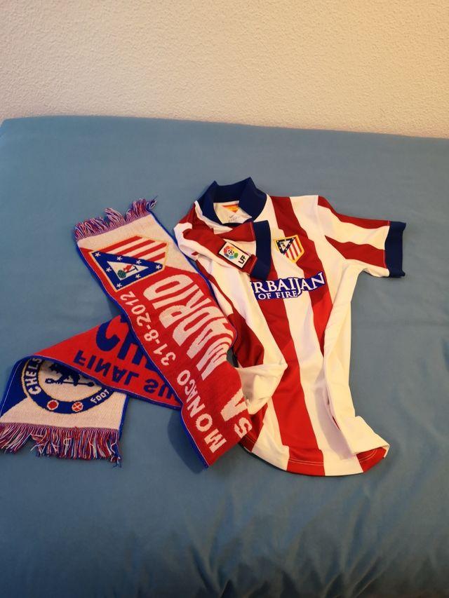 camiseta y bufanda Atlético de Madrid
