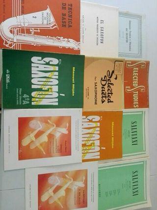 Métodos de saxofón. Mijan,Prati,Salviani,Voxman.