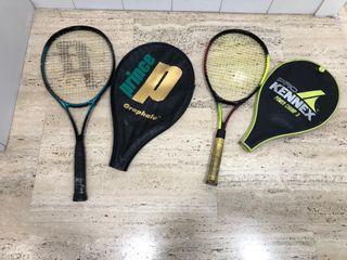 Lote 2 raquetas de tenis