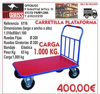 CARRETILLA PLATAFORMA 1.000 KG.