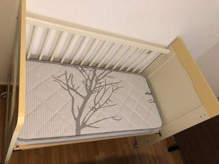 Colchón de cuna 120x60 y 10cm de espesor