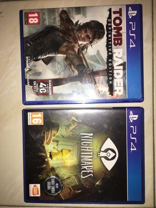 Lote de 3 videojuegos ps4