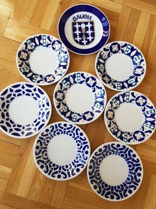 Colección ocho platos de SARGADELOS