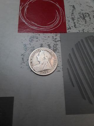 monedas. 1/2 Corona GB.