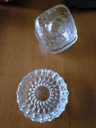 Bombonera y Cenicero. Cristal