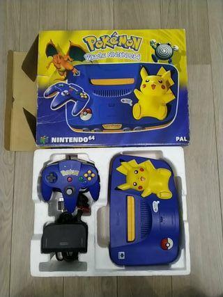 Consola pikachu n64