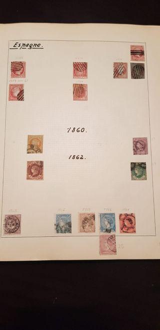 SELLOS DE ESPAÑA 1853/1901