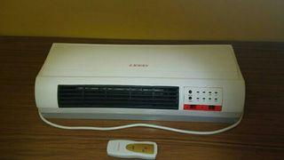 Calefactor de pared con mando