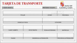 Tarjeta de transporte