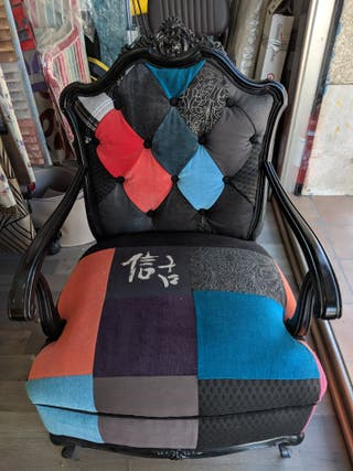 Butaca vintage, sillón, trono, asiento