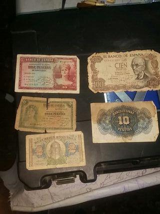 5 Billetes antiguos