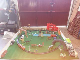 maqueta diorama tren scalextric slot