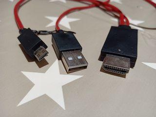 cable para teléfono Android o tablet a TV por HDMI