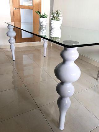 mesa comedor cristal barroca