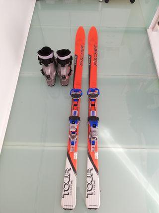 Esquís travesía 170cm y botas 43