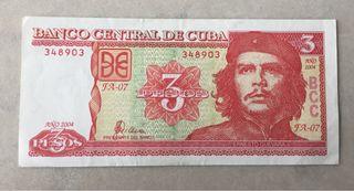 Billete 3 pesos.