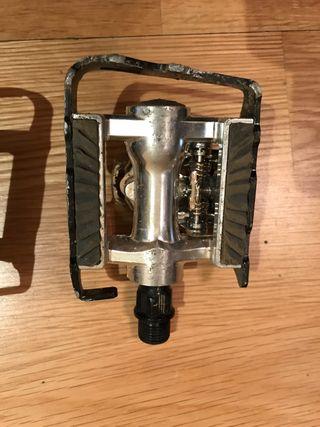 Pedales MTB mixtos automaticos y plataforma