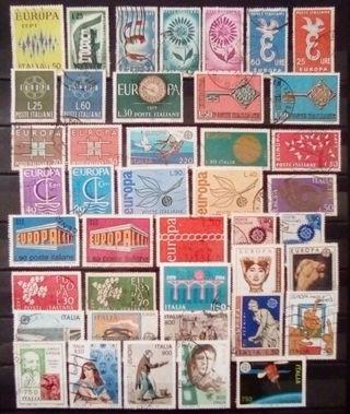 Italia tema Europa Cept lote de sellos usados