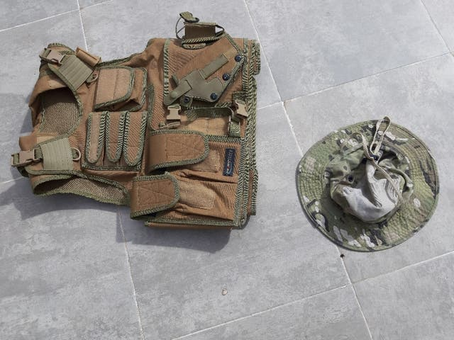 chaleco caza militar