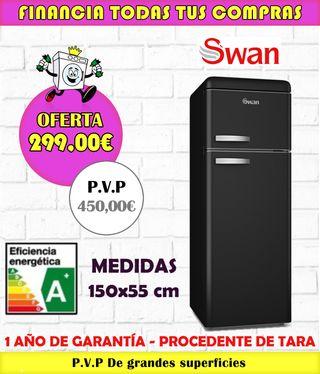FRIGORÍFICO SWAN A+ 150x55CM NEGRO