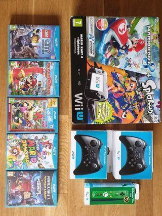 Wii U Pro+2 mandos+8 juegos.Tb se vende x separado