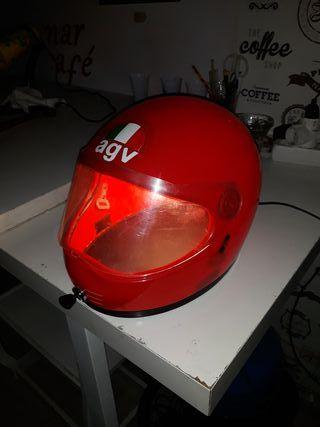lampara artesanal casco vintage