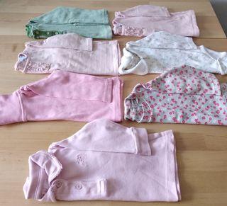Lote 7 camisetas bebé 6 meses