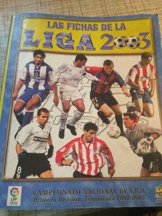 Álbum Las fichas de la Liga 2003