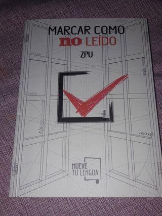 Marcar como no leído libro poesía ZPU