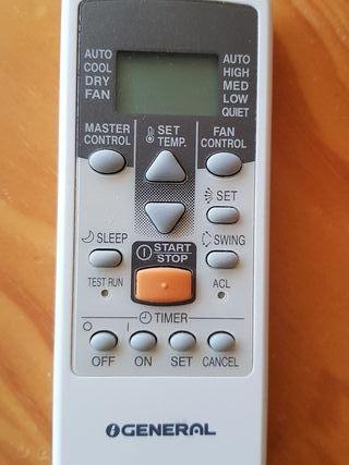 control remoto aire acondicionado Fujitsu GENERAL