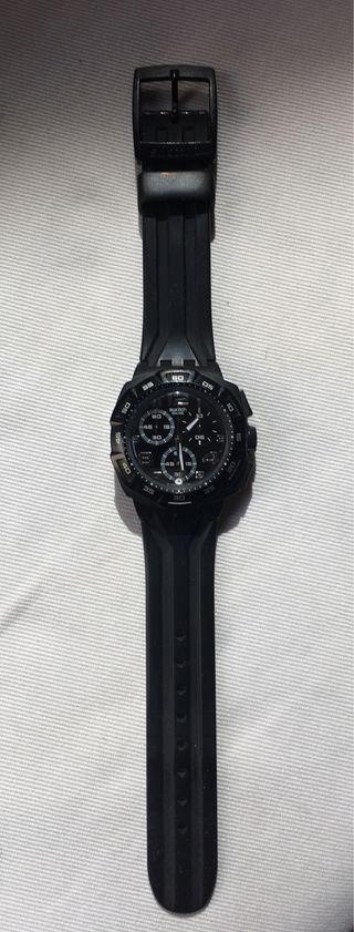 Reloj Swatch Negro Goma