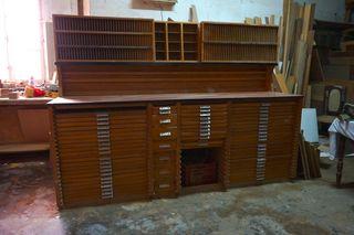 mueble cajones antiguo chivalete comodin imprenta