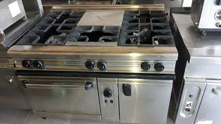 cocina 5 fuegos mas horno euras