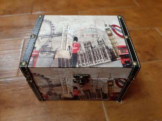 2 Cajas de madera Vintage Motivos Londres