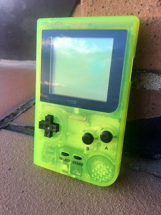 Gameboy pocket extreme green