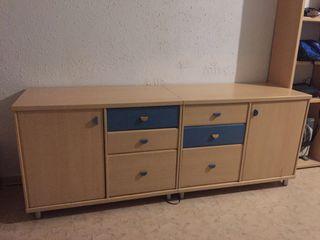 Mueble cajonera de madera