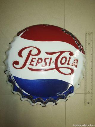 Antigua placa original Pepsi cola