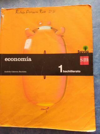 Libro economia 1 bachillerato ed. sm