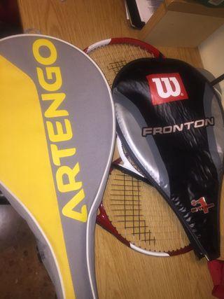 3 Raquetes de Tenis con 2 fundas