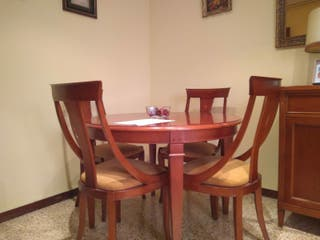 mesa redonda 1.10 +4 sillas