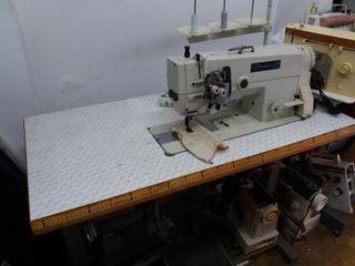 máquina coser industrial doble aguja