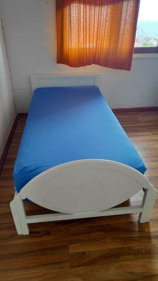 Cama de 90 con colchón y somier