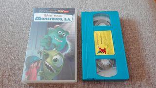 Película vhs Monstruos S.A.
