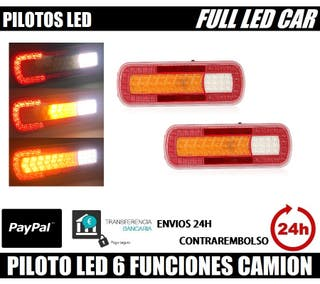 2 PILOTOS LED 5 FUNCIONES HOMOLOGADOS IVA INCL.