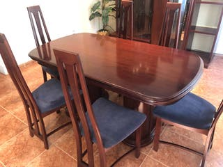 Conjunto mesa comedor extensible y 6 sillas