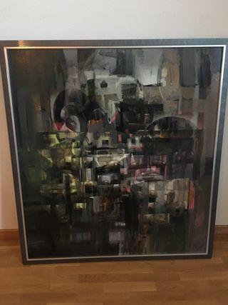 Cuadro abstracto de Antonio Guzmán Capel