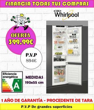 FRIGORÍFICO ENCASTRABLE WHIRLPOOL A+ 193x55CM