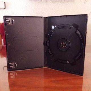 Cajas vacías para Dvd o Cd. Color negro.