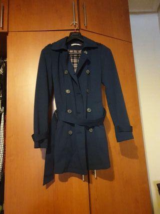 Gabardina chaqueta azul marino talla M